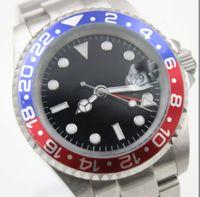 pulseiras de safira azuis venda por atacado-Master Batman Azul Vermelho Bezel Mens Watch Safira Ao Ar Livre Relógios Mecânicos Automáticos 40 MM Relógios De Pulso Com Pulseira De Aço Inoxidável