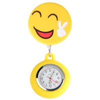 Wholesale nurses clocks for sale - Group buy Fashion Smiling Quartz Pocket Watch Clip Pendant Watches Doctor Nurse Lovely Pocket Hanging Clock New Medical Watches