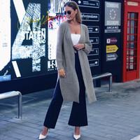 ingrosso abbigliamento di lusso-Lusso Donne Designer manica lunga con scollo a V Maglione Caldo cardigan allentato maglione Outwear rivestimento del cappotto femminile Abbigliamento Abbigliamento casual