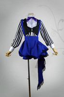 ingrosso costumi cosplay ciel nero cembalo-Anime Black Butler Kuroshitsuji Costume Cosplay Ciel Phantomhive Circus Uniforme Costume intero Set