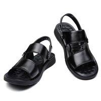 homens de moda de areia venda por atacado-Sandálias dos homens de couro de Couro Da Moda Sandálias Masculinas Homens Sapatos de Verão Dos Homens Da Praia 2019 Sandles Sandálias de Couro Do Couro