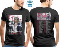 camiseta negra rosa para hombre al por mayor-Rosa Beautiful Trauma Tour 2019 Camiseta Negro S 4xl Casual Hombre Camisetas Hombre Tops