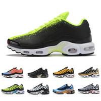 кроссовки оптовых-nike air vapormax plus tn Plus SE Tn Tuned 1 Hybird Mens Running shoes Men Sneakers Tns Fashion Brand shock orange Womens Trainers sports sneakers 36-45