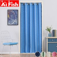 обивочные шторы оптовых-Modern Shiny Stars Curtains For Kid's Bedroom Living Room Door Partition Decoration Kitchen Grommet Blackout Cortinas Drape#4