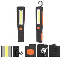 gancho multifunción al por mayor-Lámpara de camping multifunción LED COB portátil Lanterna USB imán Hook Up Light lámparas de trabajo Durable Orange 38gh C1