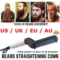 peines de hombres al por mayor-Alisador rápido de barba Peine Multifuncional Rizador de pelo Alisado Permed Clip Clip Styler Herramienta eléctrica para hombres