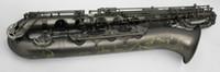 navio de níquel venda por atacado-YANAGISAWA New Brass Saxofone Barítono Único Preto Niquelado Sax Instrumentos Musicais com Mouthpeiece Frete Grátis