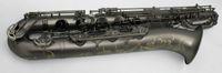 nave de la placa de níquel al por mayor-YANAGISAWA Nuevo Saxofón Barítono De Latón Único Negro Níquel Plateado Instrumentos Musicales Sax con Mouthpeiece Envío Gratis