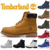 Wholesale white ankle boots men resale online - Timberland Boots For Men Women Casual Winter Boot Triple Black White Red Fashion Designer Mens Trainers Hiking Outdoor Sneakers Size