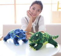 ingrosso triangolare animale-Giocattoli per bambini Regali Triangular Dragon Plush Toy Cartoon Simulazione creativa Dinosauro Queen Ragdoll Pillow Boy Peluche Giocattoli di peluche