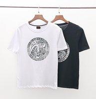 neue t-shirt design farbe männer großhandel-Neue Männer T-Shirt Sommer Sommer Kühle Einfarbig Design Runde Brief Drucken T-shirt Mode Stil Kurze Ärmel Tees