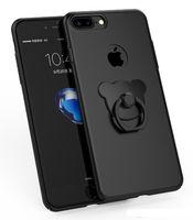 iphone rückseite schutzabdeckung großhandel-Fabrik preis harte pc telefon case für iphone7 / 7 plus schützende rückseitige abdeckung für iphone 7 plus fingerring halter phone cover für 6 plus e235