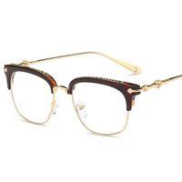 e9f60ec0750 Vintage Metal Frames Retro Goggles Frames Glasses Women Men Transparent Optical  Myopic Spectacle Eye Glasses Frame LJJS175