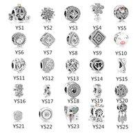brins de bracelet pandora achat en gros de-Fit Pandora 925 Sterling argent perles bracelet lettre d'amour charmes collier DIY perles femmes Brins pour collier bracelet bijoux en gros