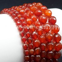 Wholesale faceted strands natural stones resale online - 5 Strands Fine Faceted Cut Natural Carnelian Gemstone Loose Beads Center Drill Ball Shaped Red Agate Size mm mm mm For Jewelry Design