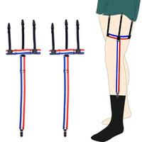 Adjustable Slip-Resistant Shirts Stays Garters Shirts Socks Gentleman Belt Solid Color Suspenders for Shirts Gentleman Leg Braces