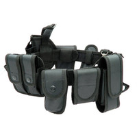 Wholesale security belts pouches resale online - Multifunctional Security Belts Outdoor Tactical Training Guard Utility Kit Duty Belt Belt With Pouch Set