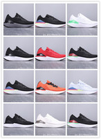 running shoes for online venda por atacado-Fábrica on-line por atacado unisex reagir tênis moda fly malha 2 mens sports formadores triplo preto escuro das mulheres tênis de grife
