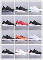 ingrosso designer scarpe online-Ingrosso online di fabbrica unisex React Scarpe da corsa Moda Fly knit 2 Mens Sports Trainers Sneakers da donna nere nere