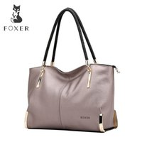 Wholesale foxer handbags for sale - Group buy Foxer Brand Women s Cow Leather Handbags Female Shoulder Bag Designer Luxury Lady Tote Large Capacity Zipper Handbag For Women Y19051502