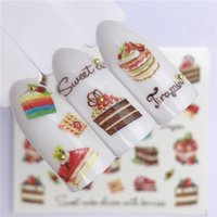 Ywk 1 Sheet Summer Fruit Strawberry Cherry Cake Ice Cream Nail Art Water Transfer Sticker Decor Slider Decal Manicure