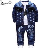 Wholesale children clothing boy black jeans for sale - Group buy Children Clothing Sets Autumn Sport Suit Baby Boys Clothes Slong Sleeve Set Costume For Kids Jacket Tshirt Jeans