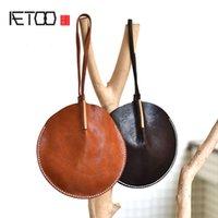 ulusal çince toptan satış-AETOO Orijinal tasarım anlamda deri yuvarlak el çantası küçük çanta üst katman deri sikke çanta Çin ulusal tarzı kişilik