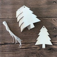 holz hängen tags großhandel-20 stücke Natürliche Holz Tags Holz Ausschnitt Handwerk Weihnachtsbaum Hängende Dekoration Festival Home Ornament