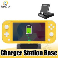 Wholesale nintendo chargers resale online - Portable Charger Stand Storage Dock for Switch Lite Game Home Charging Base with Hands USB Port for Nintendo Switch Lite izeso