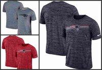 ingrosso maglia nera dei patrioti-T-Shirt da uomo con logo New Jersey nero patriots grigia