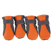 Wholesale pet shoes chihuahua resale online - 4PCS Dog Shoes Anti slip Spring Summer Pet Boots Paw Protector Reflective Straps Dog Chihuahua Teddy Cute Breathable Net Shoes