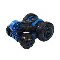 ingrosso giocattolo robot bianco nero-Stunt Car 2.4G RC Auto 360 Telecomando Off Road Race elettrico Double Side Off Road Race elettrico Double Side Toys per Kid
