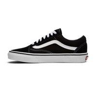 siyah yürüyüş ayakkabıları erkekler toptan satış-vans Moda tuval sneakers old skool klasik siyah beyaz erkekler kadınlar kaykay ayakkabı mens casual ayakkabı açık yürüyüş boyutu 36-44