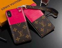 фирменные чехлы для мобильных телефонов оптовых-2-х частей кошелек на молнии кошелек бренда дизайн мобильного телефона чехол для iphone 7 7plus 8 8plus 6 6plus Xs макс Xr X с гнездом для карты