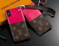cubierta de la cubierta del teléfono móvil al por mayor-Funda de teléfono móvil con monedero con cremallera de 2 piezas para iphone 7 7plus 8 8plus 6 6plus Xs max Xr X con ranura para tarjeta