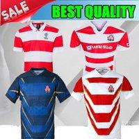 jerseys de futebol frete grátis venda por atacado-2019 Super Japão Rugby League home rugby Jerseys 19 20 Japão camisa de Futebol branco 2020 longe azul rugby Jerseys tamanho frete grátis: S-3XL