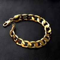 Wholesale silver chain for men 6mm for sale - Group buy Men K Gold Plated bracelets mm mm mm mm Cuban Link chains Bangle For women Rapper Hip hop Jewelry Gift
