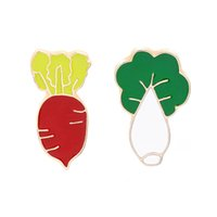 Wholesale chinese gold filled resale online - 2019 Personalized Fashion Brooch Pin Vegetable Theme Brooch Pin Red Radish And Chinese Cabbage Cute Cartoon Jewelry