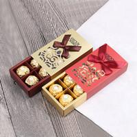 çikolatalı duş iyilikleri toptan satış-100 adet Ferrero Rocher Kutuları Düğün Iyilik Tatlı Hediyeler Çanta Parti Malzemeleri Bebek Duş Ferrero Çikolata Şeker Kutusu Sevgililer Şeker Çanta