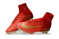 Wholesale cr7 best shoes for sale - Group buy Best Quality Classic Style Mercurial Superfly V TF IC FG Football Boots Hot Sale Mens Women Kids FG Soccer Shoes CR7 Soccer Cleats
