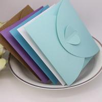 umschlag stil taschen großhandel-Kraftpapier CD Umschlagbeutel Pfirsich Herz Einzelstück Geladen Western Style Retro Style Paketbeutel