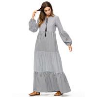 maxi vestidos islamicos al por mayor-Vestido de las mujeres musulmanas de gran tamaño Femme Dubai kaftan Bata Más Tamaño Vestidos Arabes Kaftan Maxi Abaya islámico jalabiya vestido