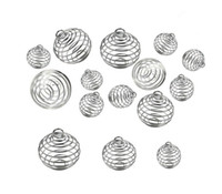 Wholesale ball cage charm resale online - Silver Plated Hollowed Lantern Ball Cage Pendant Mounting Sizes Can Hold Beads DIY Floating Charms Necklace Pendant Spring Ball Locket
