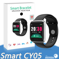 Wholesale heart rate blood pressure for sale - Group buy CY05 Smart Watch Bracelet Inch Bluetooth Smartwatch Fashion Sports Waterproof Fitness Activity Tracker With Heart Rate Blood Pressure