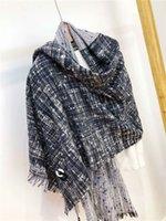 lenço cinza venda por atacado-Senhoras cachecol cinza malha material de qiu dong entrega gratuita de moda tamanho quente estilo 180 * 65