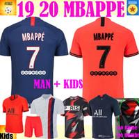 xxl 18 großhandel-Fußballtrikot 19 20 MBAPPE Fußballtrikot 2019 2020 Paris MARQUINHOS GANA Hemd Unterhemd Fußballtrikot Männer Kinder Sets