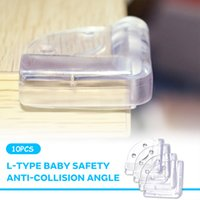 Wholesale edge protector corner resale online - 10pcs Soft Rubber Child Protector Corner Durable Home Furnishing Tool Safety Children Anti Collision Table Edge Cover Indoor