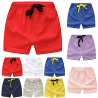 Wholesale kids girls sports wear resale online - Kids Shorts Summer Swimming Wear Beach Short Candy Color Y Children Girls Boys Pants Jersey Clothes A100 Toddler Sport Wear