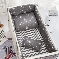 Wholesale baby bedding set pcs crib resale online - 6 gray star bedding Baby Crib Bumper Kids baby crib bedding set cartoon100 cotton girl bumpers cot bed protector