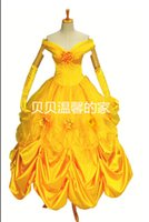 Wholesale custom cosplay for sale online - Hot Sale Custom Made Belle Cosplay Costume Dress for Party